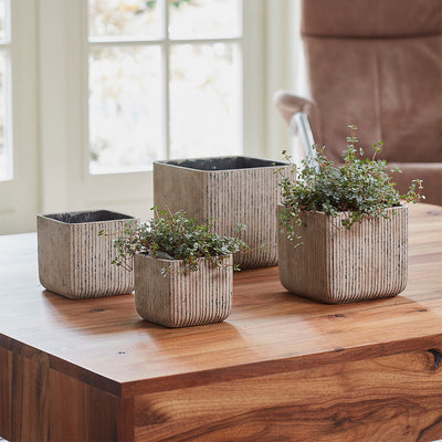 Jari Square Planters Collection - Vintage