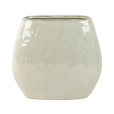Lieke Oval Planter - Pearl White