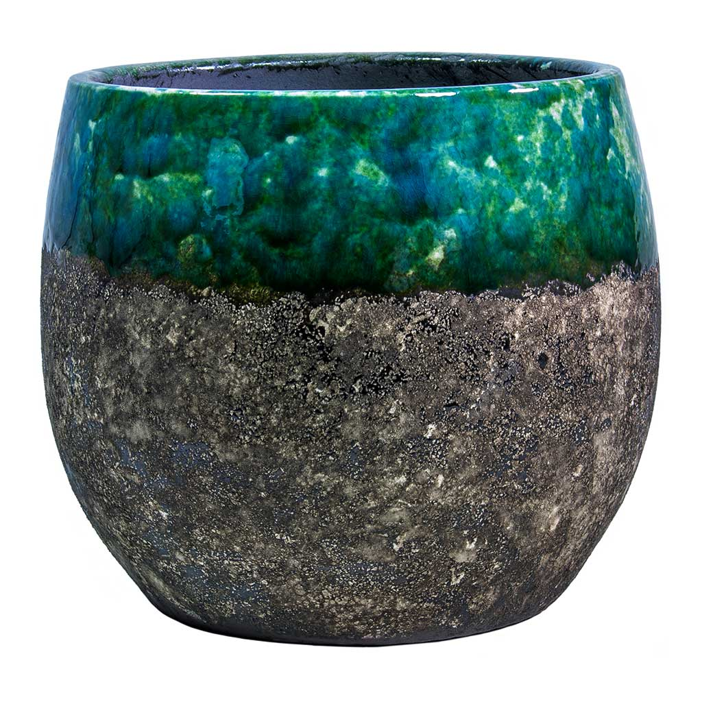 Lindy Plant Pot - Black Green