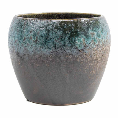 Liza Plant Pot - Blue Black 17cm