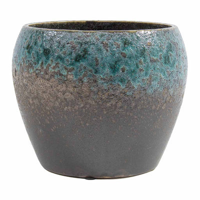 Liza Plant Pot - Blue Black 19cm