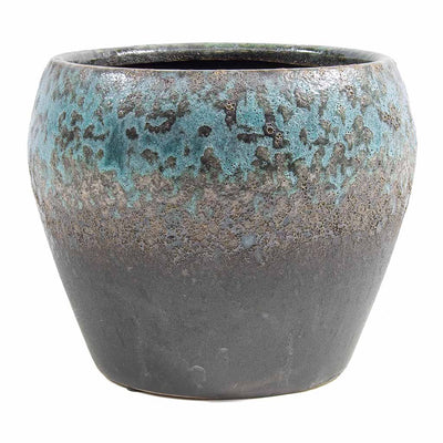 Liza Plant Pot - Blue Black 21cm