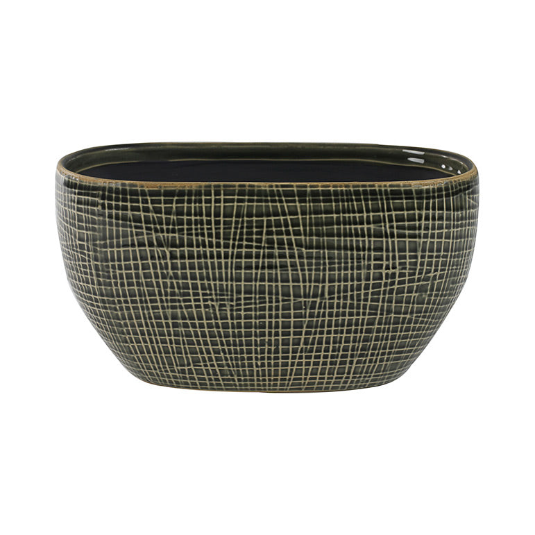 Lotte Oval Plant Bowl - Old Green