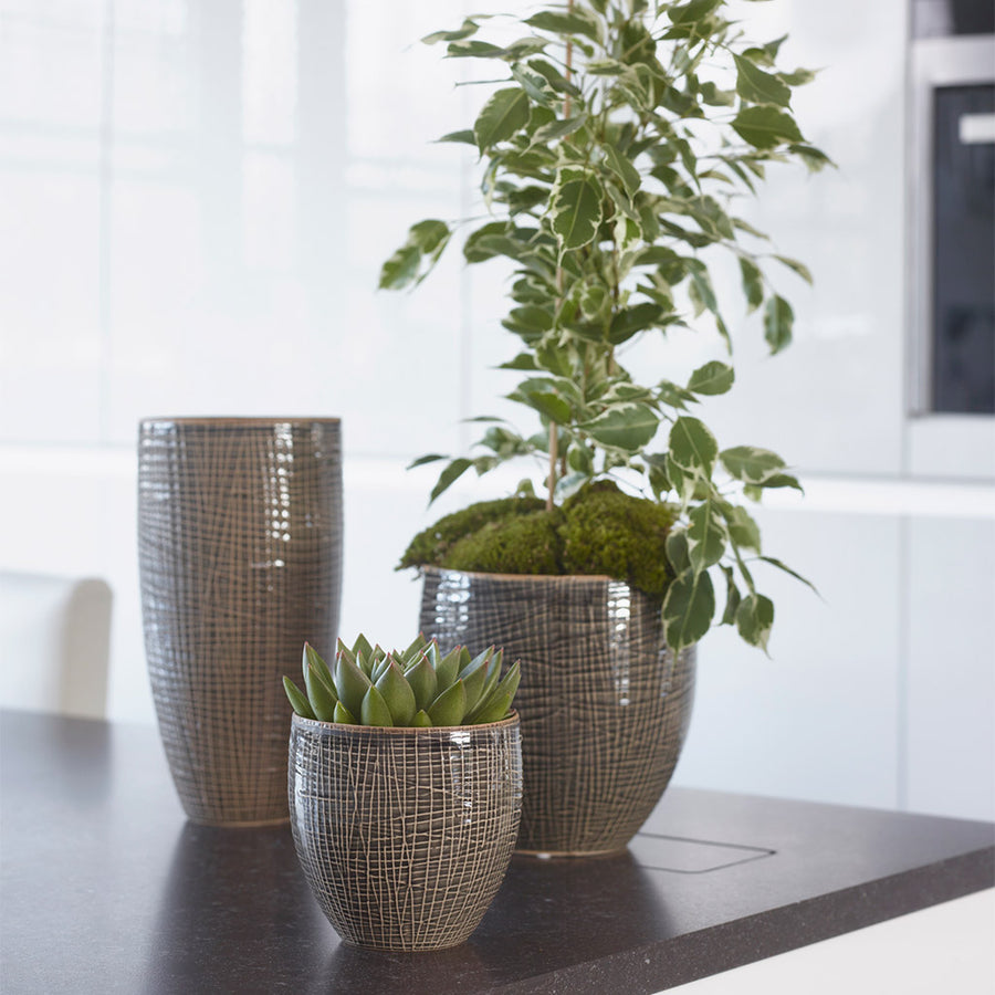 Lotte Plant Pot - Old Green