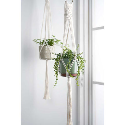 Macrame Plant Pot Hanger Display