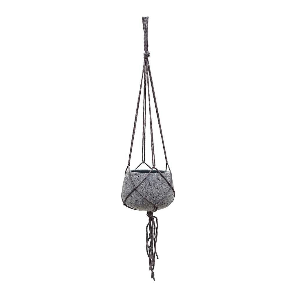 Mini Pax Hanging Plant Pot - Laterite Grey