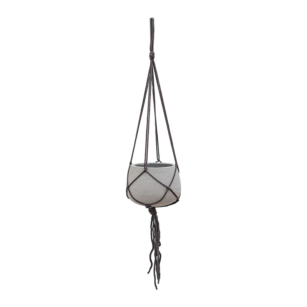 Mini Pax Hanging Plant Pot - Light Grey