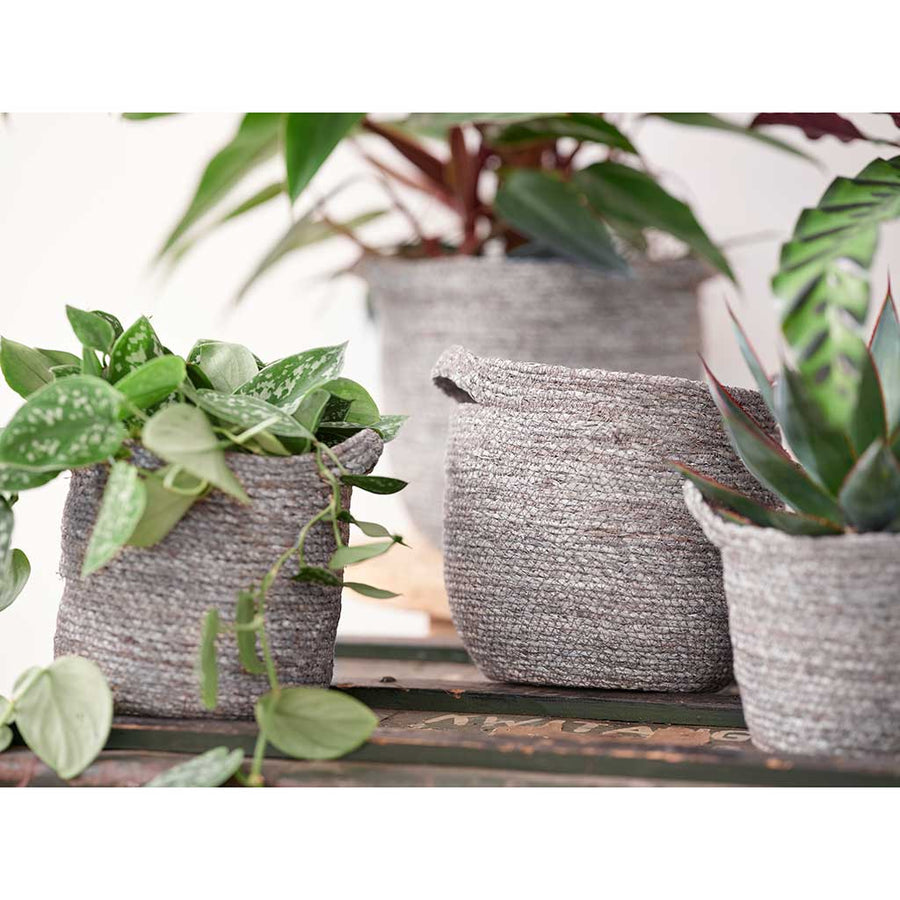 Nelis Plant Basket - Ice Blue