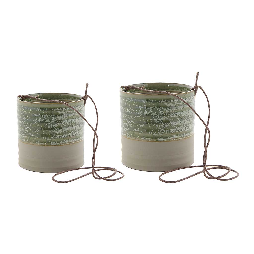 Nik Hanging Planters - Set of 2 - Ice Green