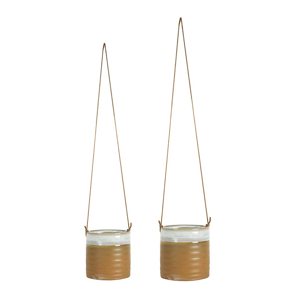 Nik-Hanging-Planters-Set-of-2-Camel