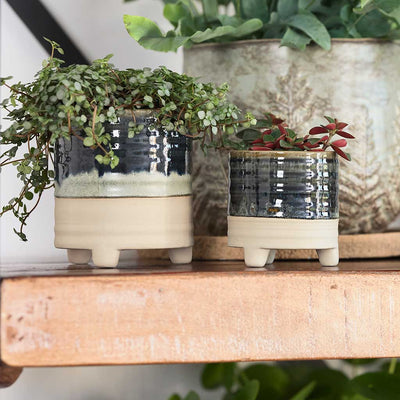 Nik Indoor Plant Pots - Set of 2 - Blue