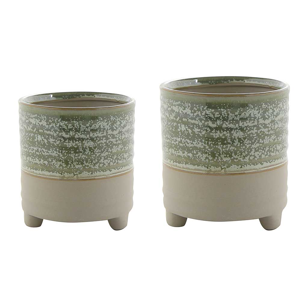Nik Plant Pots - Set of 2 - Ice Green