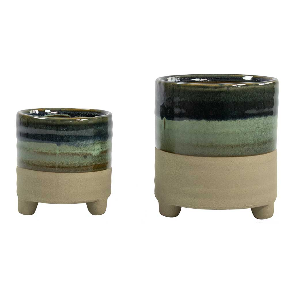 Nik Plant Pots - Set of 2 - Blue