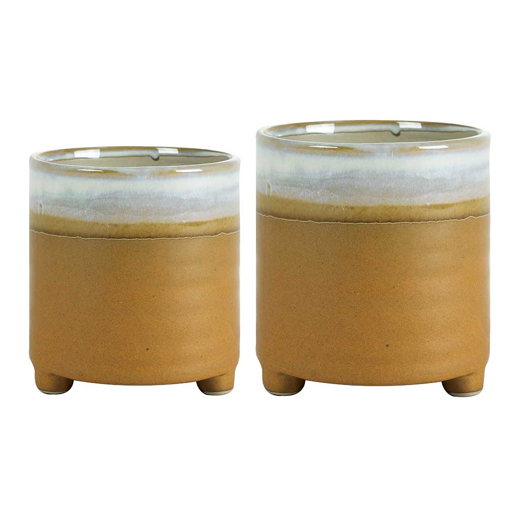 Nik Plant Pots - Set of 2 - Camel