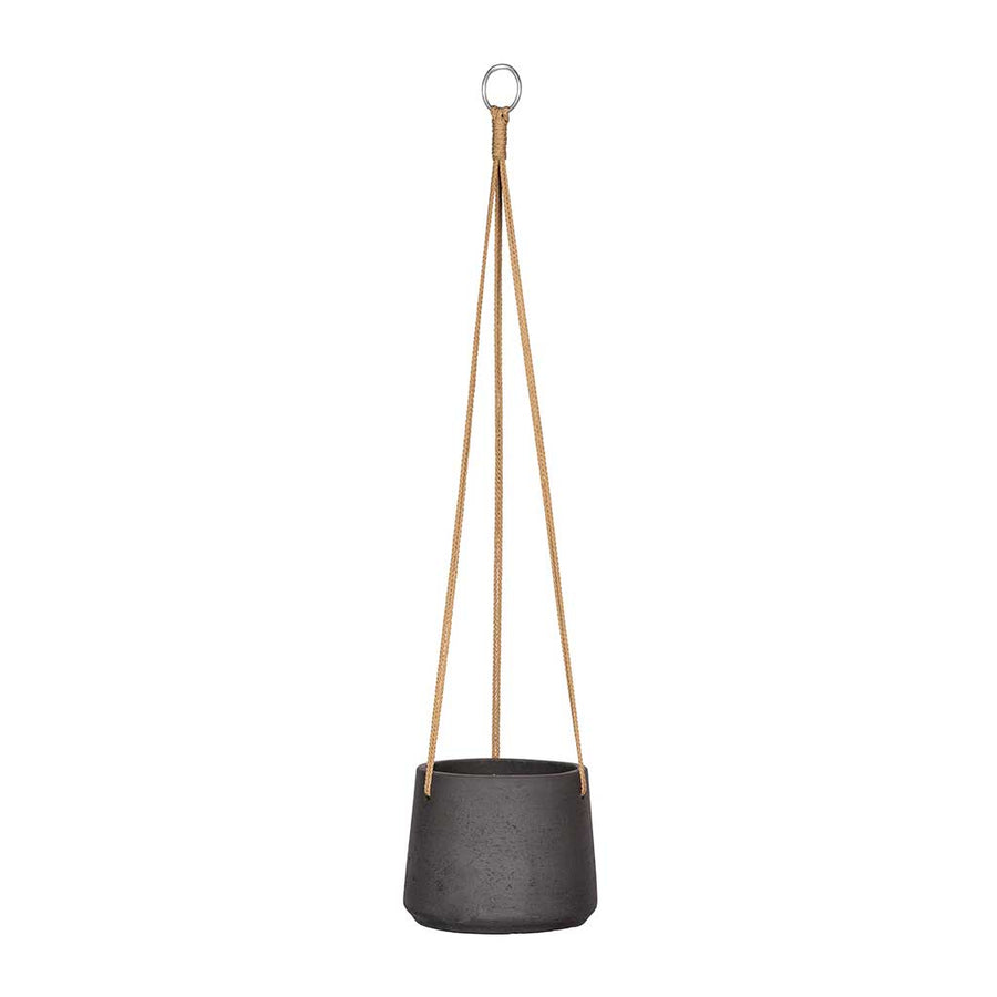 Patt Hanging Plant Pot - Black Washed - XSmall
