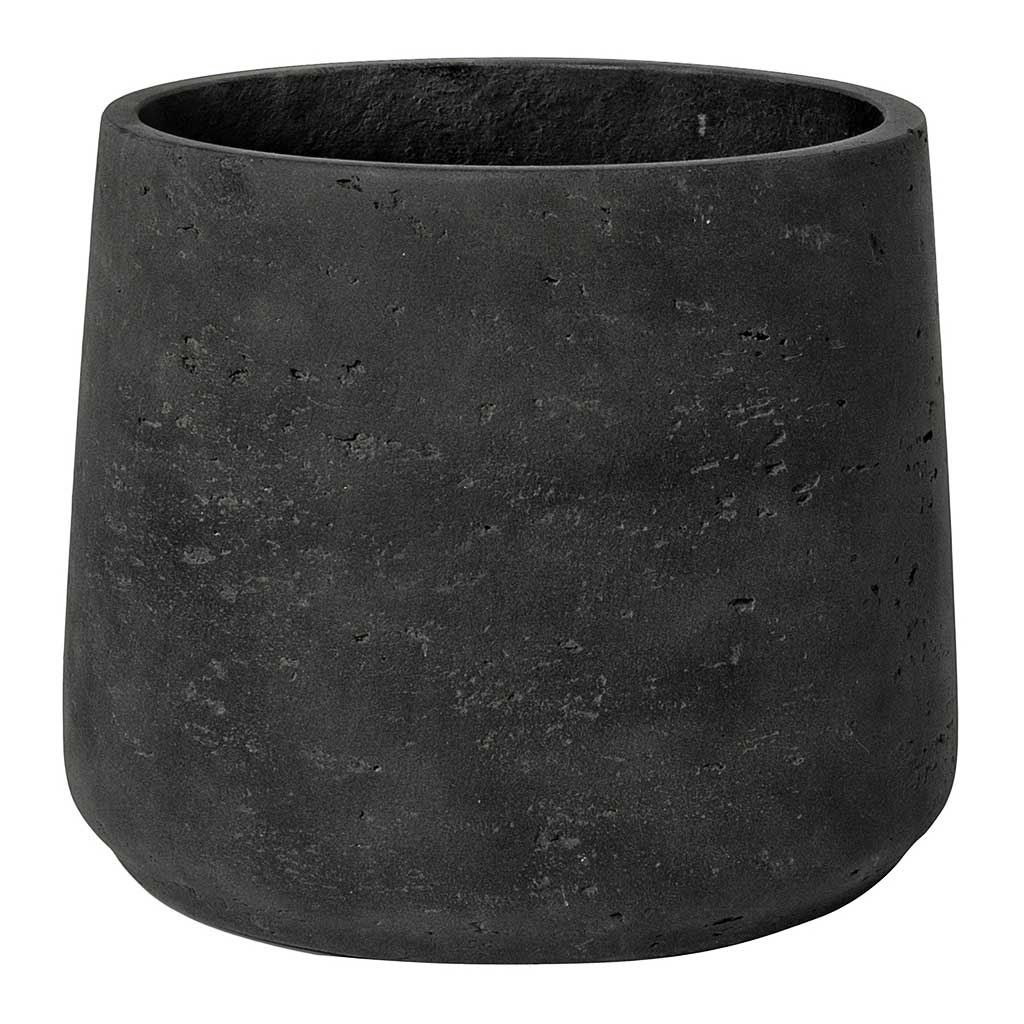 Patt Plant Pot - Black Washed L