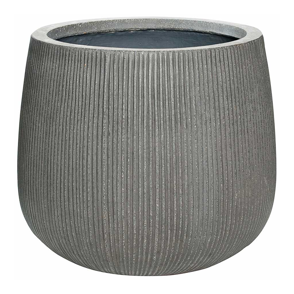 Pax Planter Ridged - Dark Grey