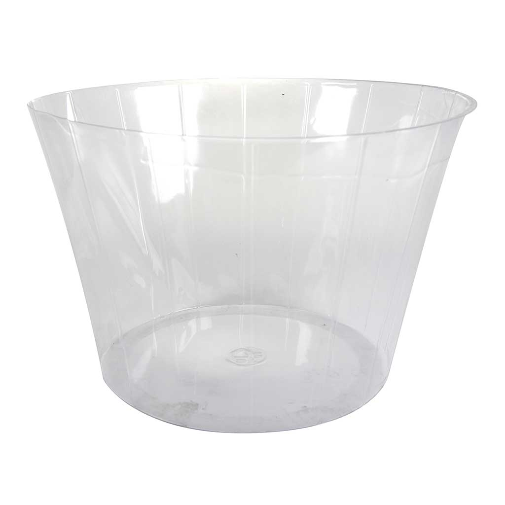 Plant Pot Inlay Liner - Clear - 12 x 8cm