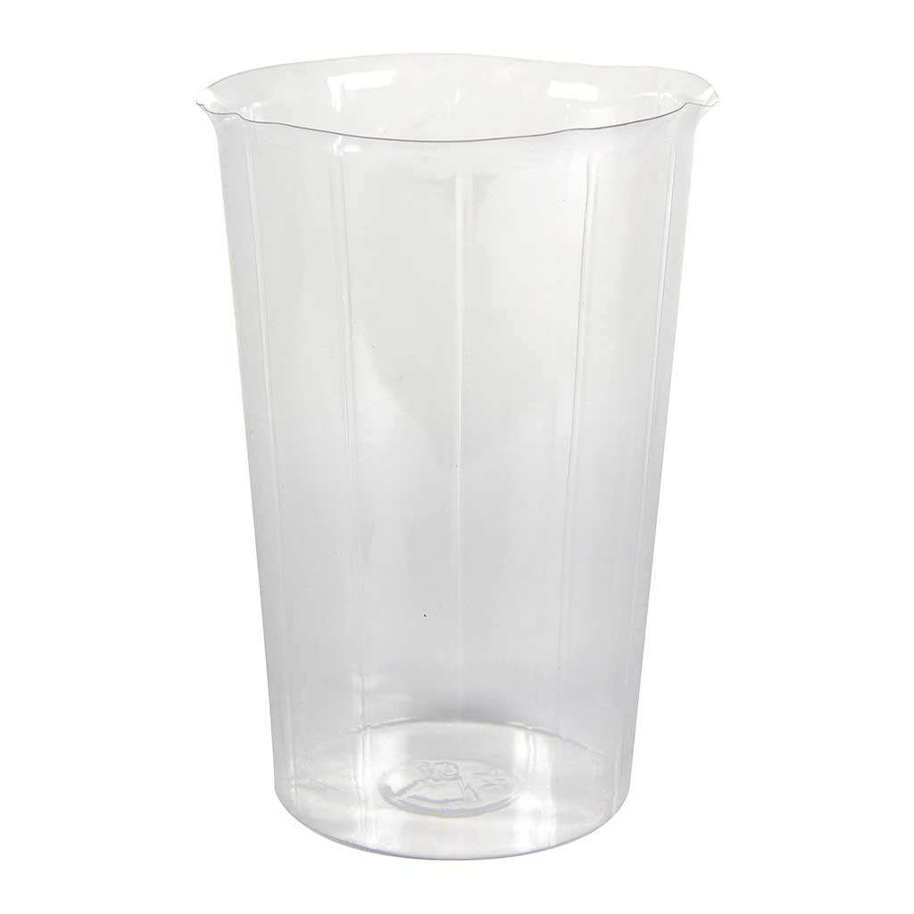 Plant Vase Inlay Liner - Clear - 15 x 22cm
