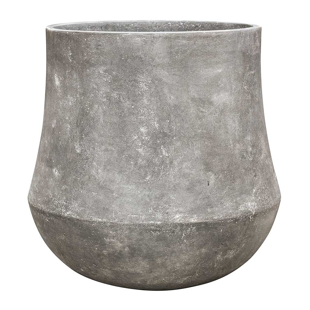 Polystone Coated Darcy Planter - Raw Grey - Small