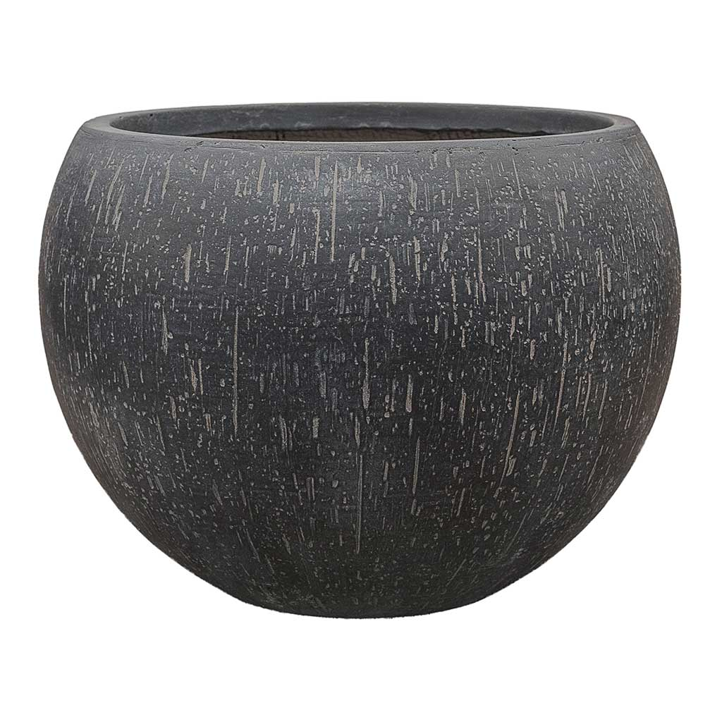 Raindrop Bowl Planter - Anthracite