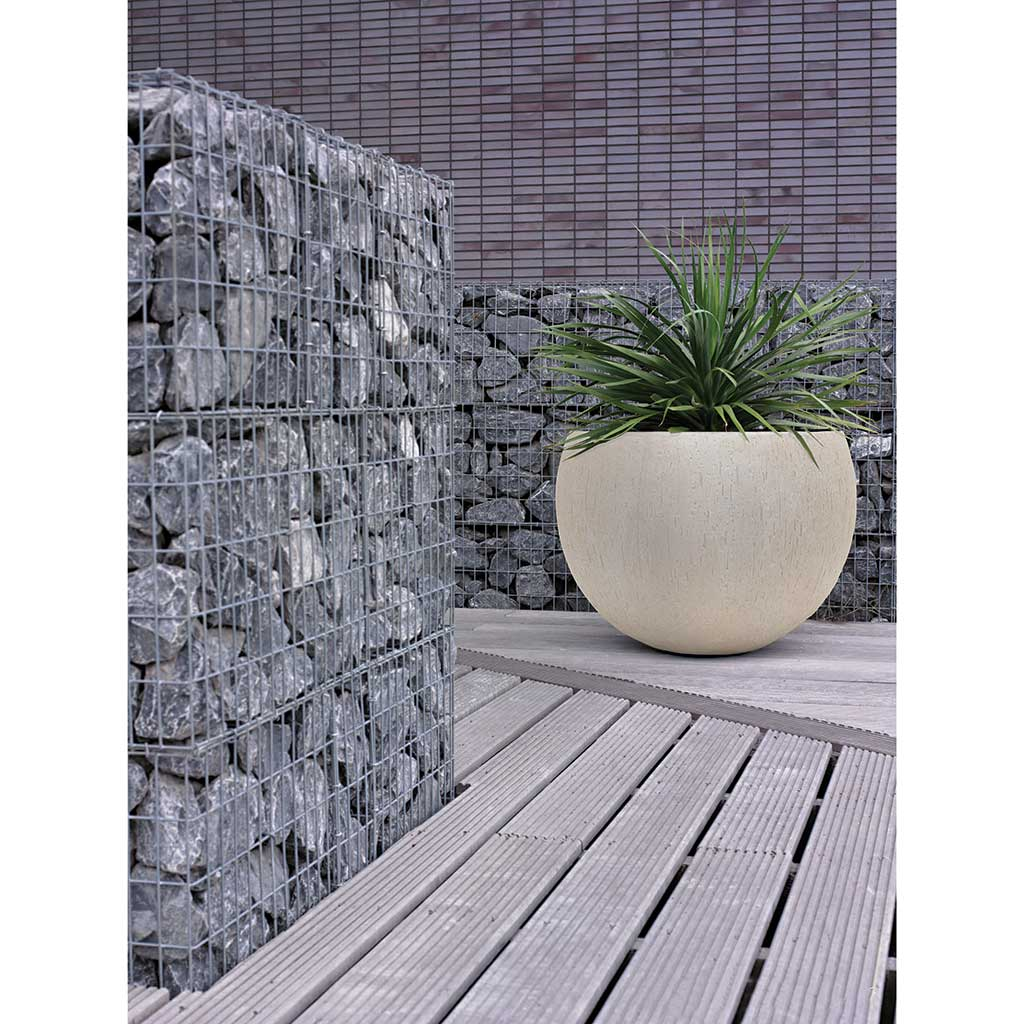 Raindrop Bowl Planter - Stone