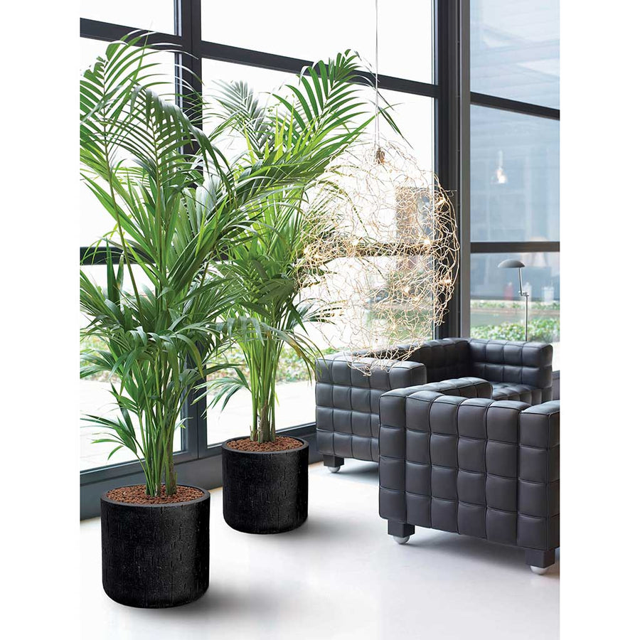Raindrop Round Planter - Black