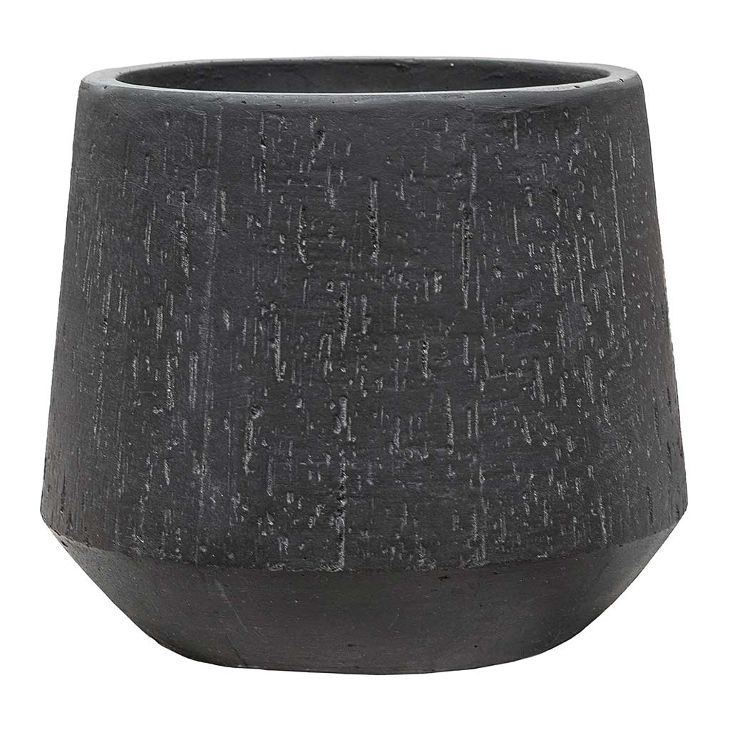 Raindrop Tube Round Planter Anthracite - Medium