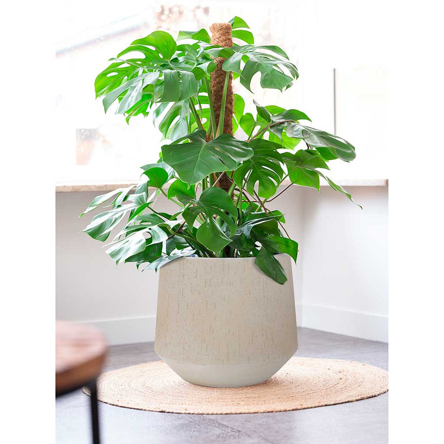 Raindrop Tube Round Planter - Stone