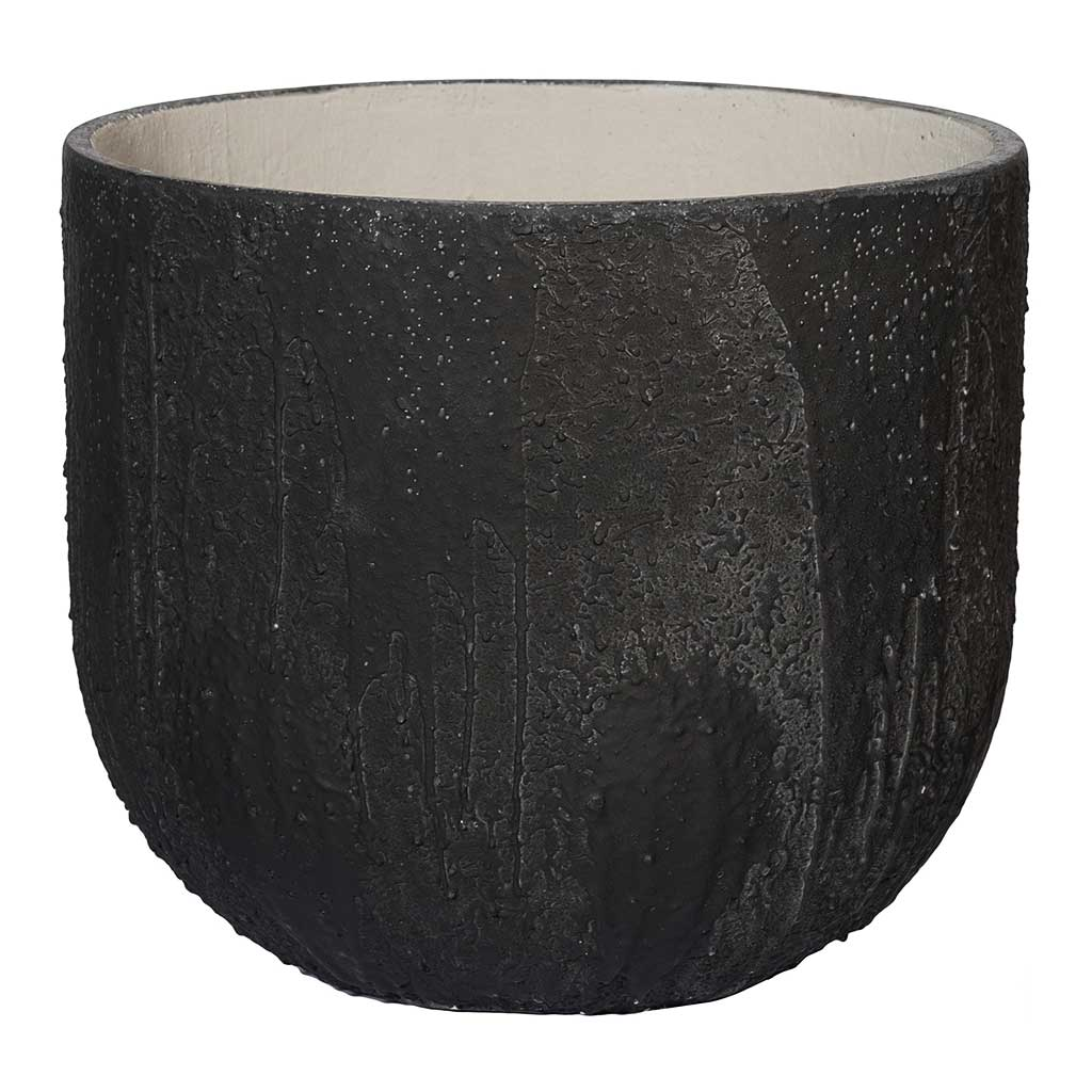 Raw Cody Plant Pot - Burned Black