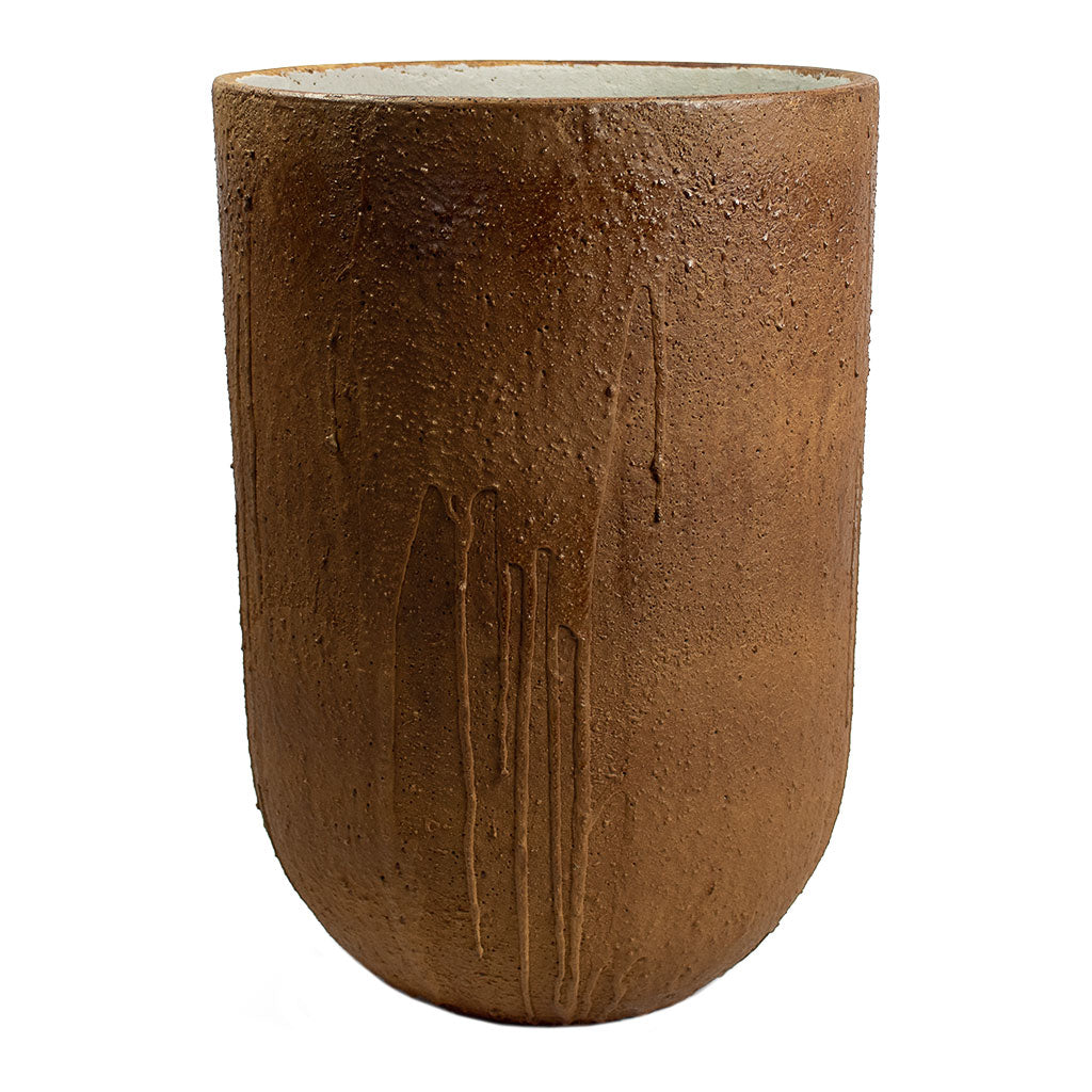 Raw Cody Tall Plant Vase Running Rust