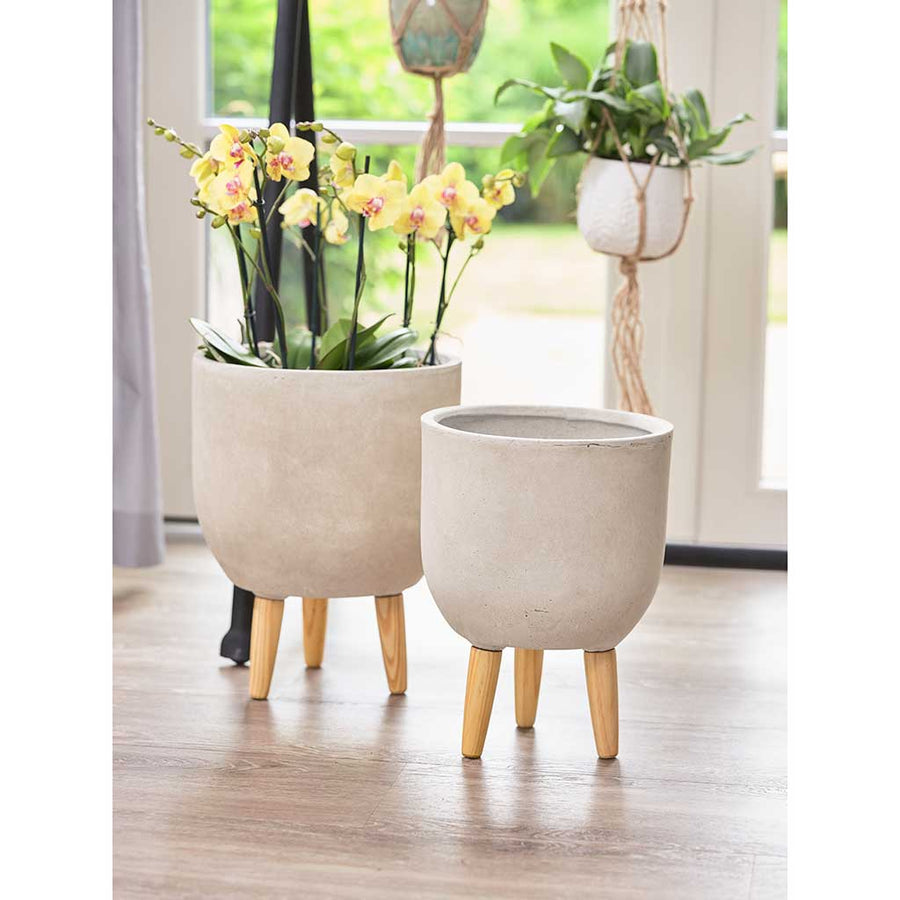 Ruth Plant Pot Stands - Set of Two - Sand