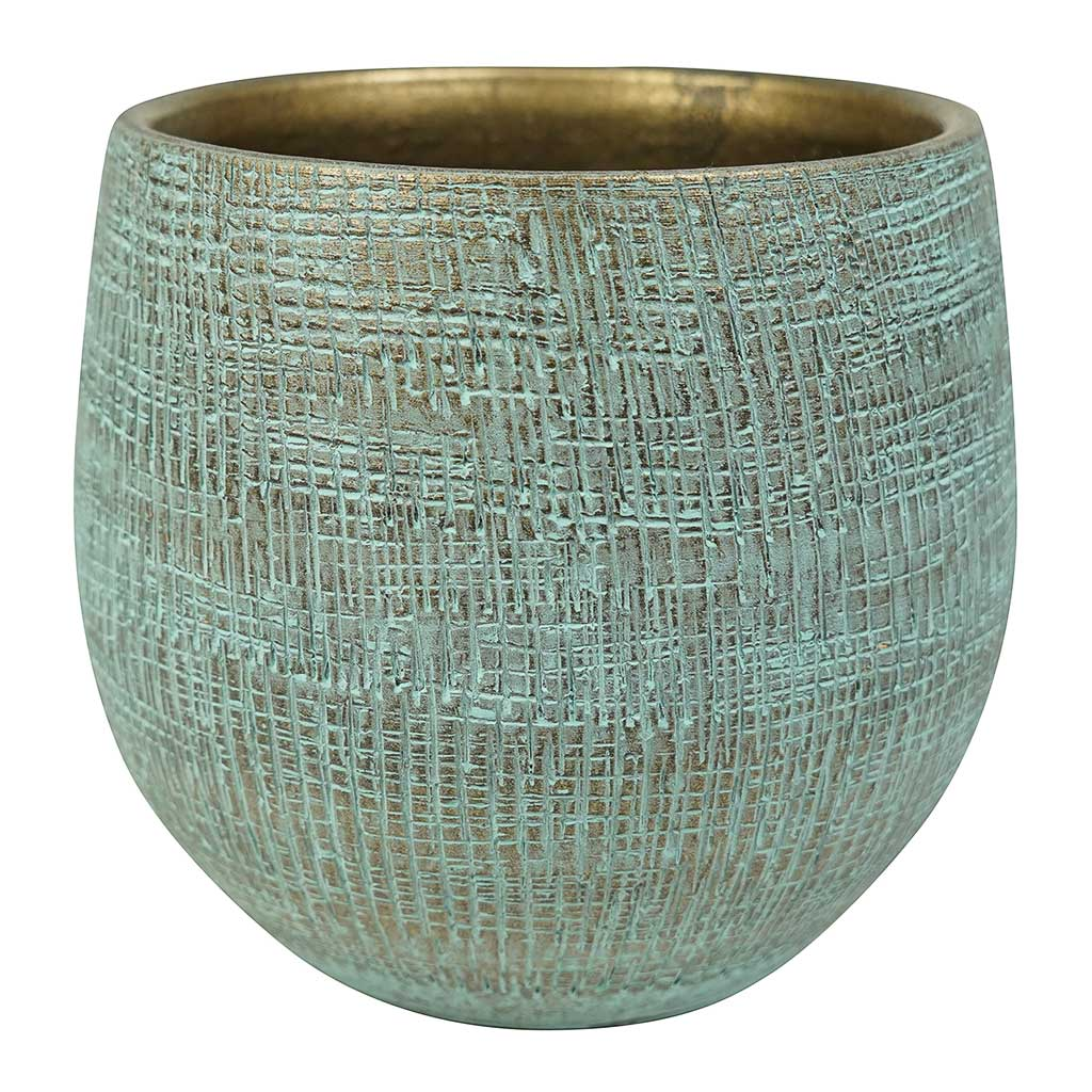 Ryan Plant Pot - Blue Gold - Medium