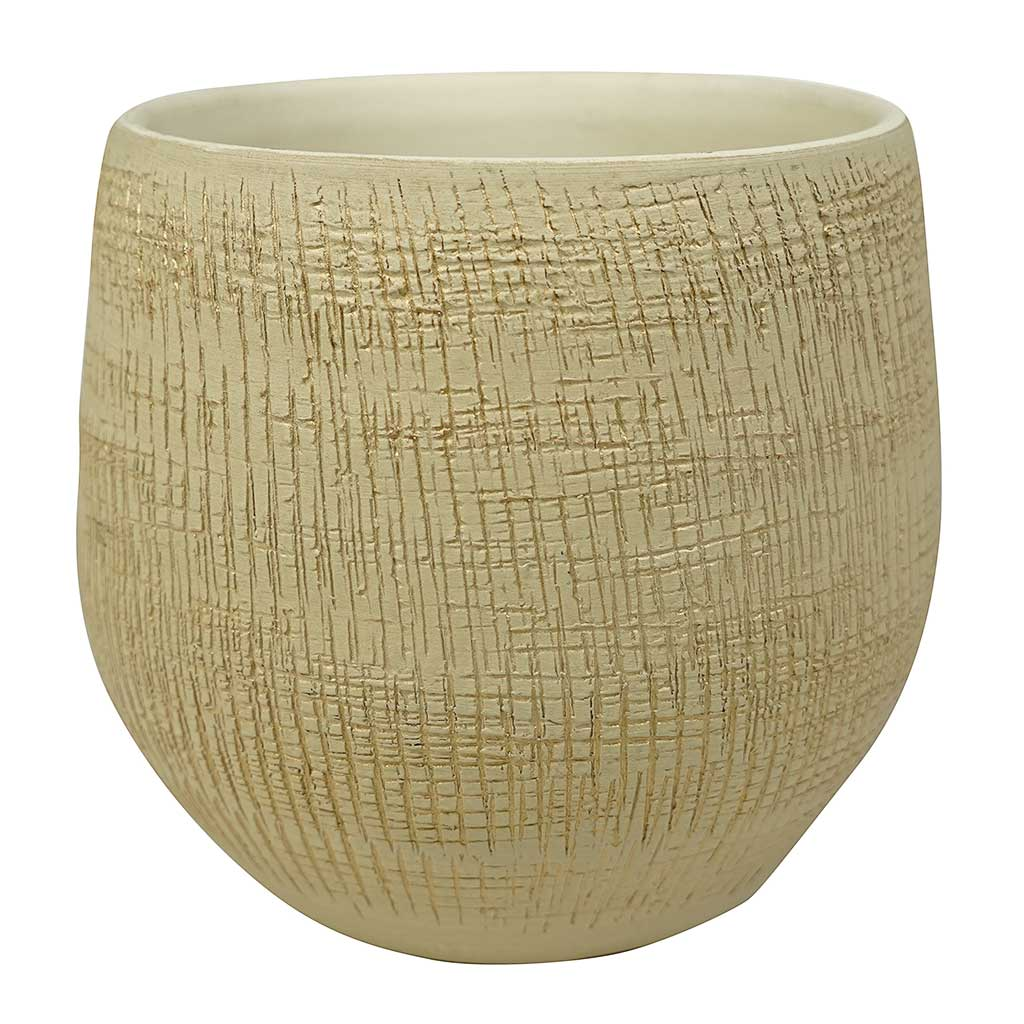 Ryan Plant Pot - Sand Gold - Medium