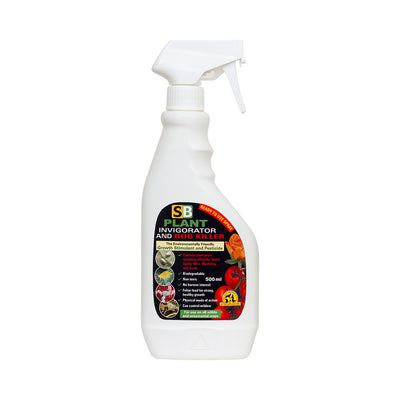 SB Houseplant Invigorator & Bug Killer - Environmentally Friendly - 500ml Ready To Use