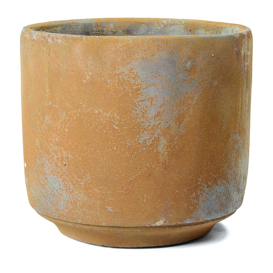 Saar Plant Pot - Rust Cement 14 x 13cm