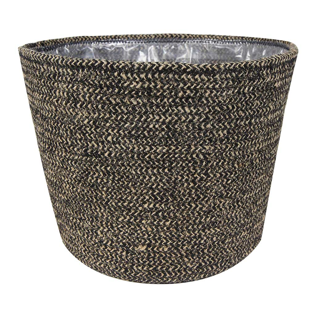 Selin Plant Basket - Black Weave - Small