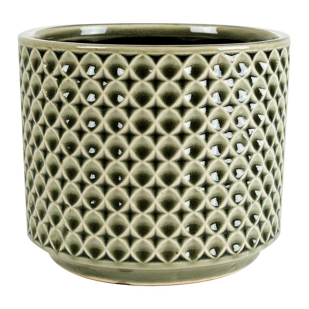 Thies Plant Pot - Olive Green