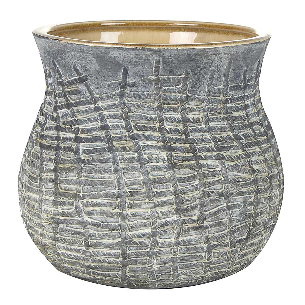 Toby Plant Pot - Grey - Large