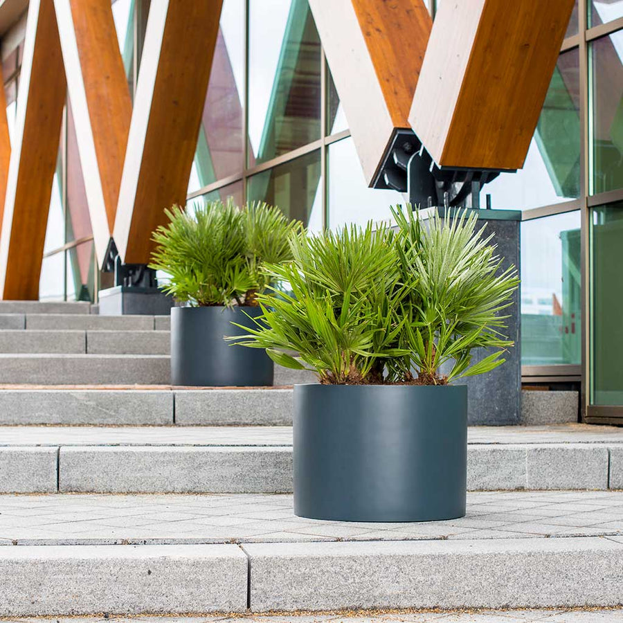 UP2U Round Planter - Matt Anthracite