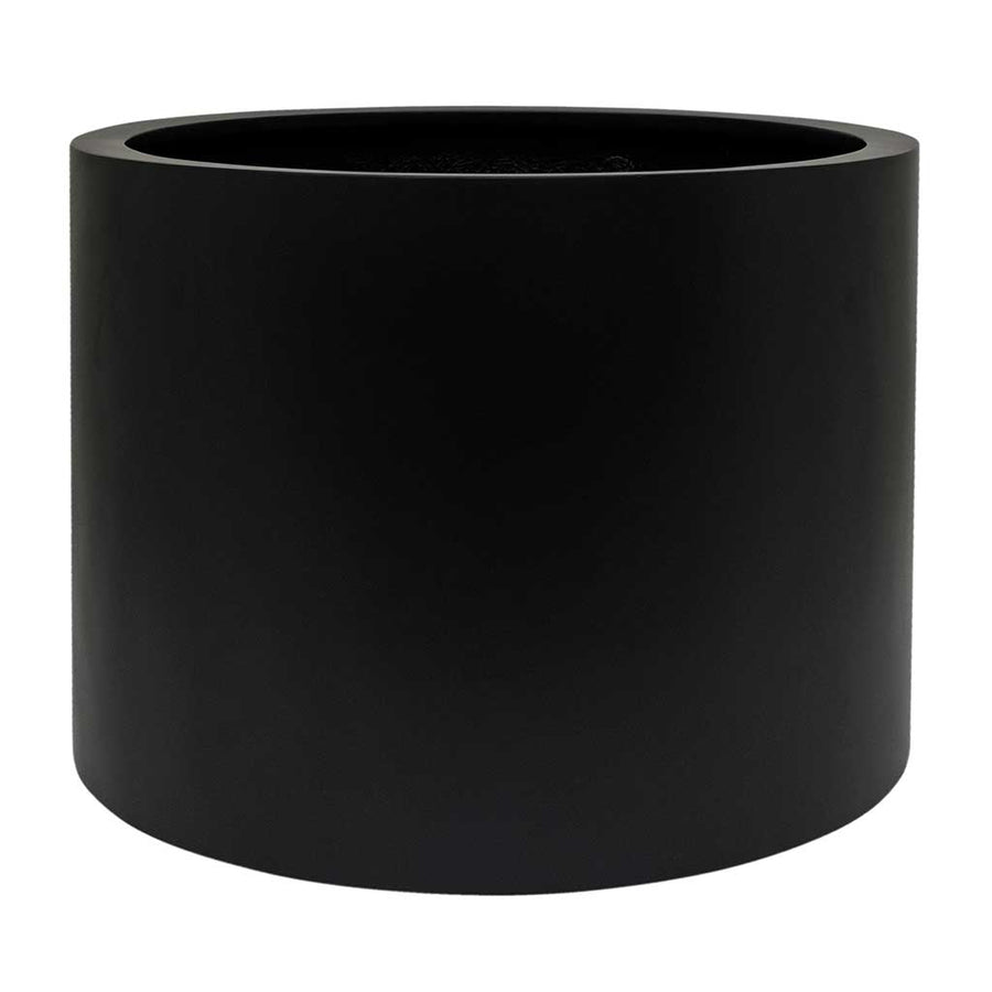 UP2U Round Planter - Matt Black - Medium