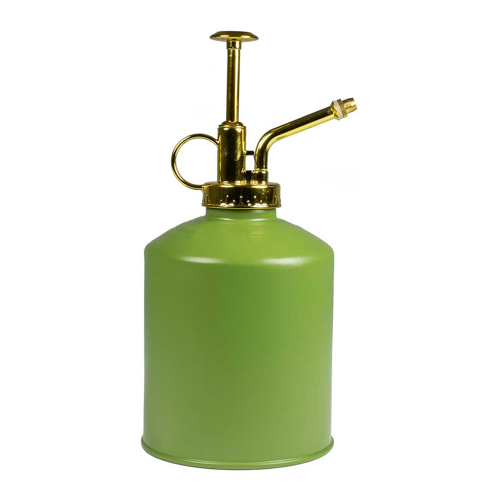 Zinc Houseplant Atomiser - Apple Green