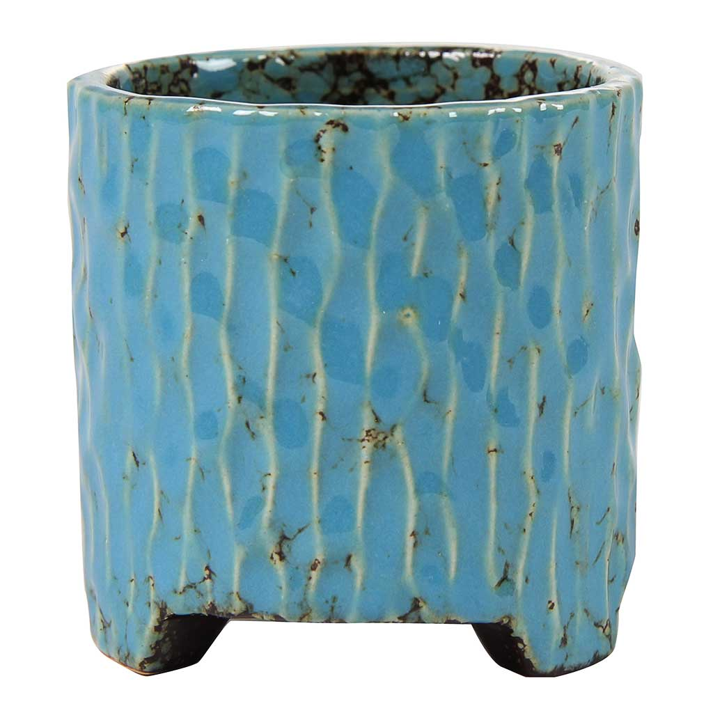 Carice Plant Pot - Blue - Small