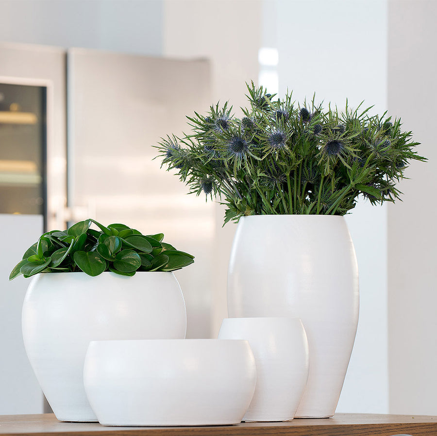 Cresta Plant Pot - Pure White