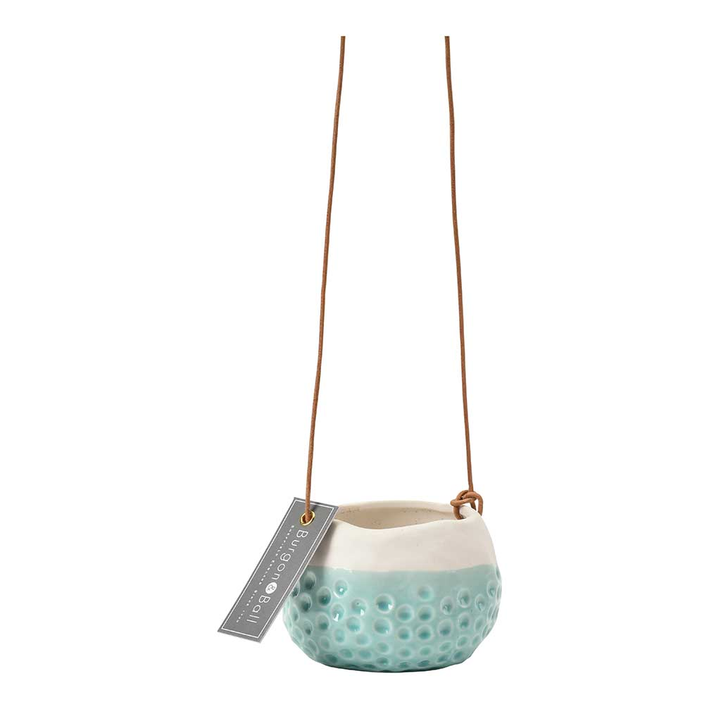 Baby Dotty Hanging Indoor Pot - Turquoise