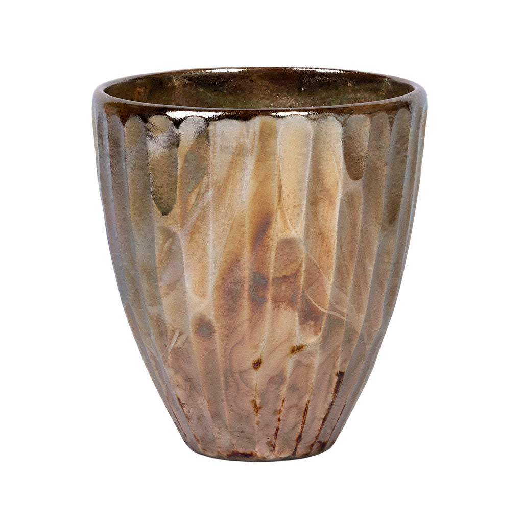 Livin' Beauty Flowerpot - Silver Carved Vertical 15cm, 19cm