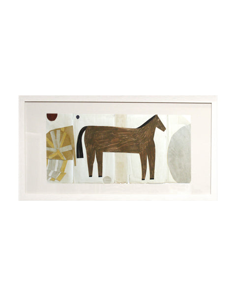 Framed Collage: Black Country Horse 1
