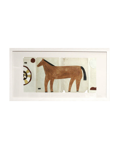 Framed Collage: Black Country Horse 2