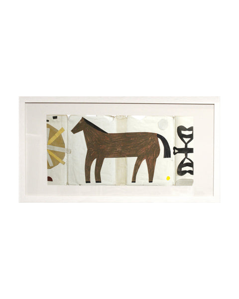 Framed Collage: Black Country Horse 3