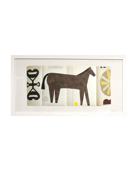 Framed Collage: Black Country Horse 4
